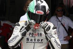 Vittorio Iannuzzo Triumph Daytona Suriano Stock Photo