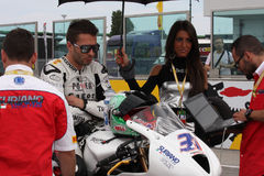 Vittorio Iannuzzo Triumph Daytona Suriano stock photo