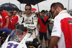 Vittorio Iannuzzo Triumph Daytona Suriano stock photos