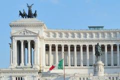 Vittorio Manuel en Roma Imágenes de archivo libres de regalías