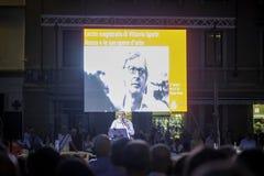 Vittorio Sgarbi - Lectio Magistralis fotografia stock libera da diritti
