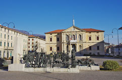 Vittorio Veneto: City Hall And Monument Of The First World War Royalty Free Stock Photos