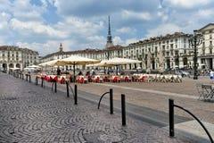 Vittorio Veneto square, Turin, Italy Stock Images