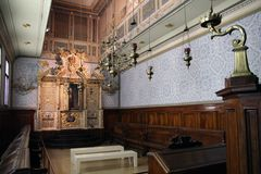 Vittorio Veneto Synagogue from 1700 AD, northern Italy Stock Images