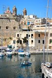 Vittorios harbour and Senglea buildings, Malta. Stock Images