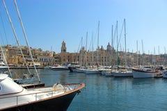 Vittoriosa在马耳他盛大港口  免版税库存照片