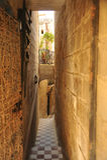 Vittoriosa,马耳他狭窄的街道  图库摄影