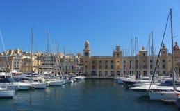 Vittoriosa,马耳他小游艇船坞  库存照片