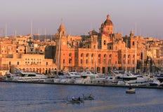Vittoriosa Kai, Malta lizenzfreies stockbild