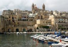Vittoriosa in malta. View of vittoriosa cities. Malta Stock Photos