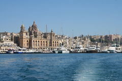 Vittoriosa, Malta. Vittoriosa Harbor with yachts and sail boats on the island of Malta, Europe. Famous holiday destination due to the unique view Royalty Free Stock Photos