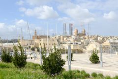 Vittoriosa one of the three cities across Valletta bay, Malta. Vittoriosa, Malta - 31 October 2017: Vittoriosa one of the three cities across Valletta bay on Stock Images