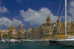 Vittoriosa, one of the three cities of Malta. A view of Vittoriosa, one of the 'three cities' of Malta Royalty Free Stock Photography