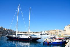 Vittoriosa and Senglea marina, Malta. Royalty Free Stock Image