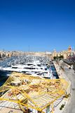 Vittoriosa waterfront and marina, Malta. Royalty Free Stock Photography