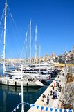 Vittoriosa waterfront and marina, Malta. Stock Photo