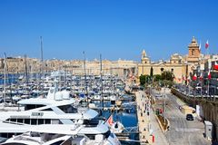 Vittoriosa waterfront and marina, Malta. Royalty Free Stock Photo