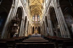 Vitus Cathedral Majestic Interior royalty free stock photos