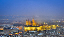 Vitus cathedral in night Stock Photos