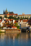 Vitus cathedral over Vltava river, Royalty Free Stock Photography
