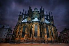 vitus de rue de Prague de cathédrale Photos stock
