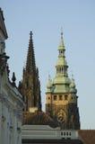 vitus st шпилей собора Стоковое Изображение RF