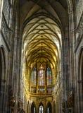 vitus st prague собора нутряное стоковое изображение