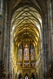 vitus st prague собора нутряное стоковые изображения rf