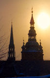 vitus steeples st снежка церков cathe Стоковые Изображения