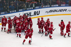 Vityaz team rejoice of victory Royalty Free Stock Image