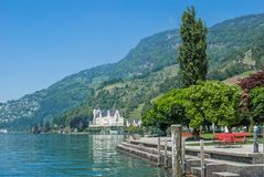 Vitznau, lago Lucerna, Svizzera Fotografia Stock Libera da Diritti