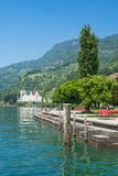 Vitznau på sjön Lucerne, Schweiz Royaltyfri Bild