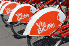 Viu BiCing, a Bicycle share program in Barcelona Royalty Free Stock Photo