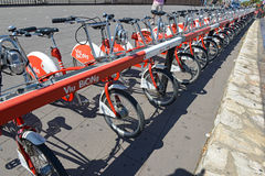 Viu BiCing, a Bicycle share program in Barcelona Royalty Free Stock Images