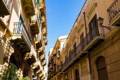 Viuzza a vecchia Palermo, Italia fotografia stock