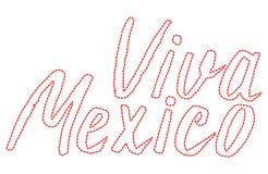 Viva Μεξικό, γράφοντας διανυσματική απεικόνιση, παραδοσιακός μεξικανός Στοκ Εικόνα