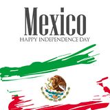 Viva Μεξικό, παραδοσιακές μεξικάνικες διακοπές φράσης απεικόνιση αποθεμάτων
