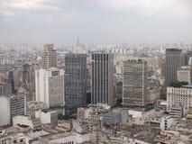 Viva ποδοσφαίρου Παγκόσμιου Κυπέλλου οριζόντων panorma πόλεων του Σάο Πάολο Βραζιλία Στοκ Εικόνες