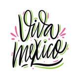 viva Мексики Нарисованная рукой литерность вектора Мотивационная вдохновляющая цитата иллюстрация штока