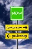 Viva agora! Fotos de Stock Royalty Free