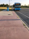 Viva bus. Arriving at a stop located in Markham near YMCA and GO station. YRT/Viva offers local and rapid transit services in all nine York Region stock photos