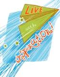 ¡Viva con la inspiración! Foto de archivo