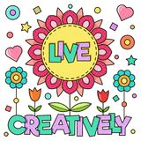 Viva creativo Ilustración del vector Fotografía de archivo libre de regalías
