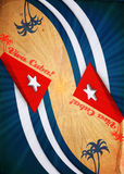 Viva Cuba Dirty abstract creativity background Stock Images