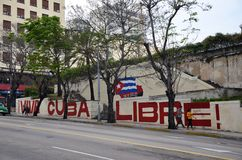 Viva Cuba Libre!. In Havana Cuba royalty free stock photo
