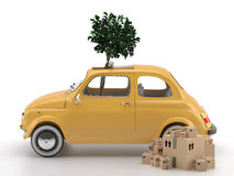 Viva Italia 500 - Transportation. A classic car. Very suitable for shipments within the city Royalty Free Stock Photo