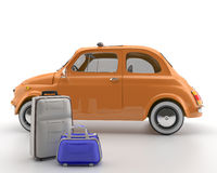 Viva Italia 500 - Transportation. A classic car. Very suitable for shipments within the city Stock Photography
