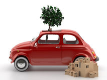 Viva Italia 500 - Transportation. A classic car. Very suitable for shipments within the city Stock Image