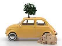 Viva Italia 500 - transporte Foto de archivo libre de regalías