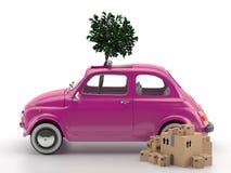 Viva Italia 500 - transporte Imágenes de archivo libres de regalías